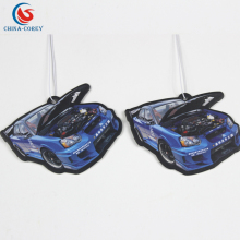 OEM custom design car air scent paper freshener hanging for promotional gifts