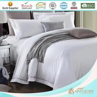 luxury white embroidery 100 polyester microfiber hotel duvet
