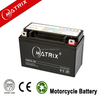 2015 hot sell Mf dry 12v 6.5ah motorcycle battery 10hr factory direct