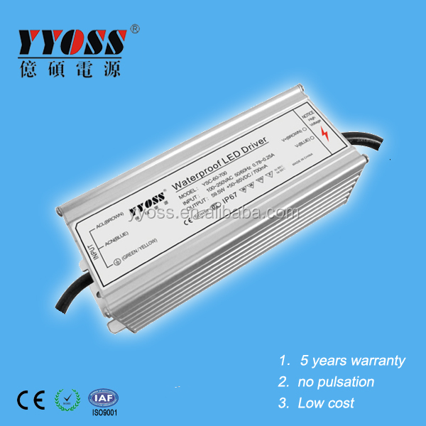 Constant Current Switching Power Supply 700mA 50-85V for street lights