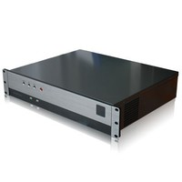 Painting black anodized aluminum 2U rackmount itx chassis inexpensive price