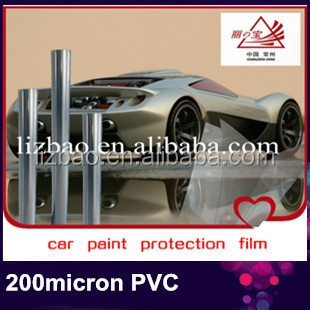Crystal clear paint protective film for cars