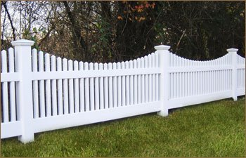 white 100% PVC fence, cheap fence picket fence