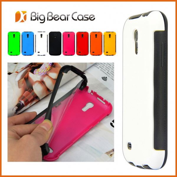 Full protective pc+metal case for samsung galaxy s4 mini i9190