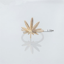 Steam Punk Maple Leaf Finger Knuckle Ring Plated Rose Gold Ring For Women Girls Bridesmaid Gifts