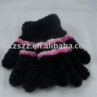 Ladies winter feather gloves knitted magic