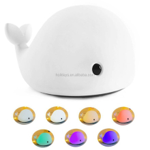 Whale Dolphin Design Silicone Colorful USB Rechargeable Sensitive Tap Control Bedroom Night Light