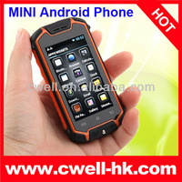 Capacitive mini touch screen cell phones Z18 Android 4.0 MTK6572 Dual Core Dual SIM