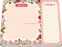Various shaped glued school office memo pad shopping list for promotion