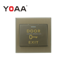 Plastic exit button door push button for access control system