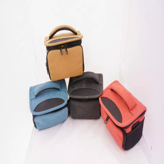 Digital Camera Bag Camera Case Bag for Camera Canon Nikon Sony DSLR Free Shipping Black/Blue/Brown/Red
