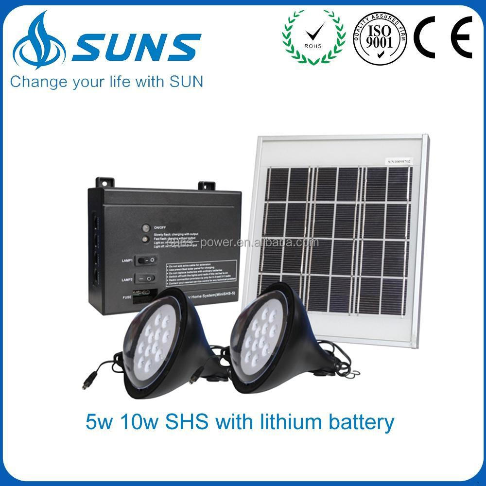 Mass supply evergreen solar system with lithium battery