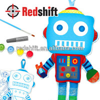 Arts & Crafts kit do it yourself canvas doll Color your doll Robot