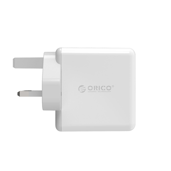 ORICO DCM-4U-UK USB Charger Adapter Wall Portable UK Plug Mobile Phone Smart Charger