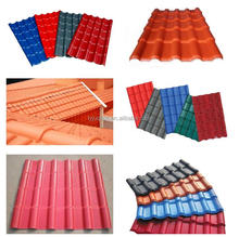 Environment friendly color coated spanish ASA & PVC sheet roof/synthetic reson roofing material
