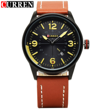 CURREN Mens Watches Top Brand Luxury Man Wrist Watch japan movt Quartz watch leather band Wristwatches Relogio Masculino 8215