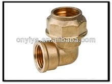 brass ferrule fitting female elbow