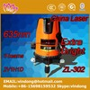 hot sell 3 lines 635nm red 3d laser level construction strong and flexible extra light