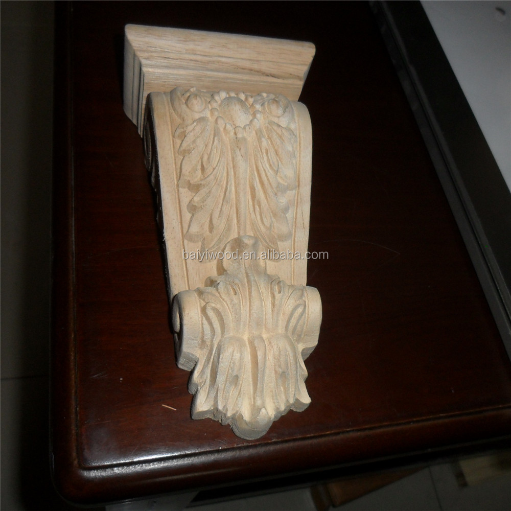 Furniture Parts Rubber Wood Corbels