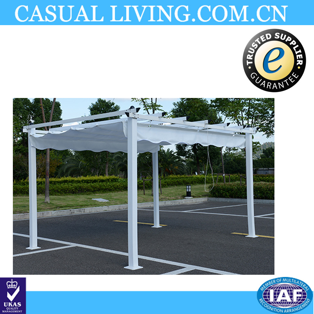 3x4m Outdoor Metal White Waterproof Polycarbonate outdoor Gazebo