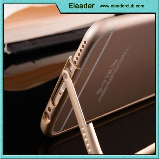 for gold iphone 6 case metal stand bumper