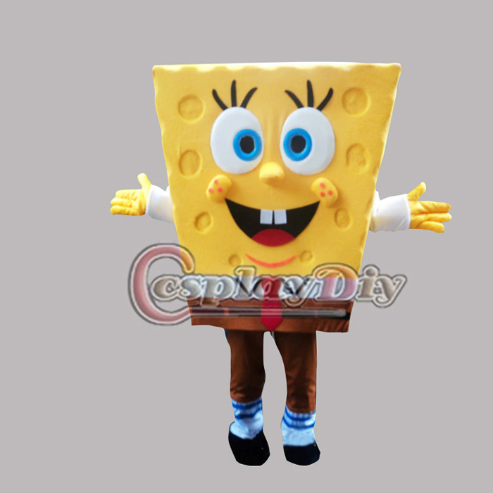 cartoon character SpongeBob Mascot cosplay costume custom made