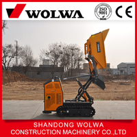 small mini track dumper with high lift and extention device