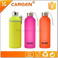 Customized leisure frosted glass drinking water bottles