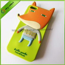 Cute 3d animal silicone phone case for iphone