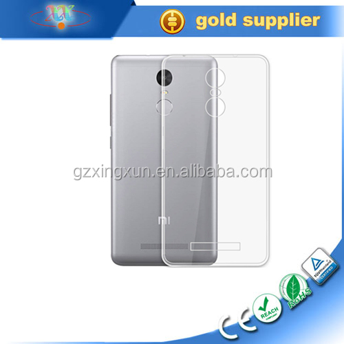 Wholesale Ultra Thin Super Transparent Clear Soft TPU Cell Phone Case For redmi 3S Universals