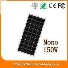 150w 12v solar panel mono with CE RoHs Fcc