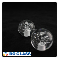 Factory Direct Supply Transparent Crystal Glass Ball With Hole & Bubbles For Chandelier