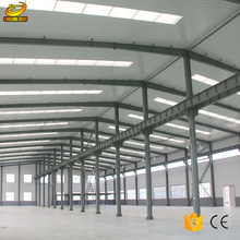 Galvanized steel storage shed warehouse