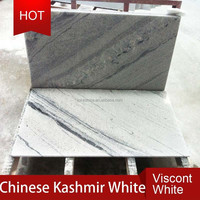 Chinese beautiful viscount white granite tile with black vein