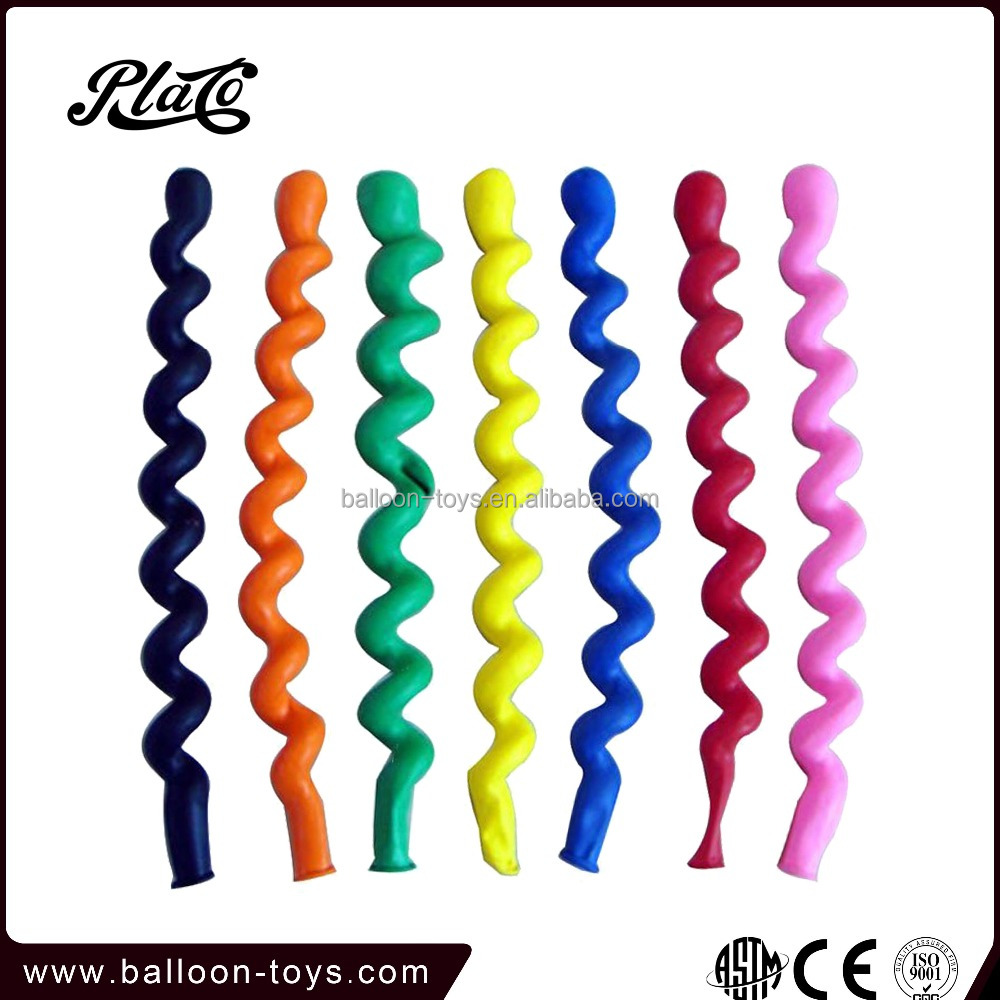 Hot wholesale new long screw birthday non latex balloons