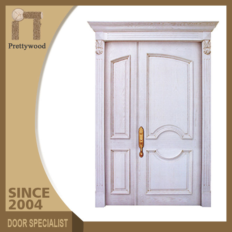 China Manufacturer Villa Entrance Solid Wooden Mom And Son Door