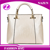 2016 Ice white Nice PU Leather Fine Royal Mosaic texture fancy Lady big Shoulder bag from Chinese Factory
