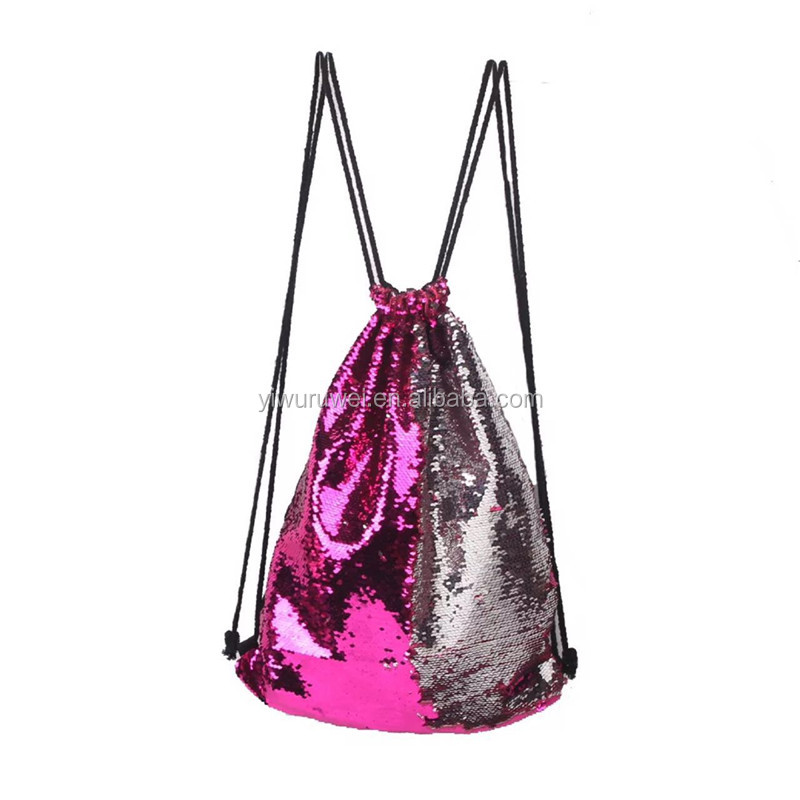 Wholesale good quality outdoor travel backpack bag Mermaid Sequins Backpack