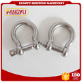 stainless steel round pin anchor shackle