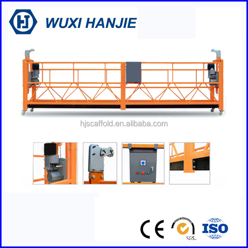 Wire rope steel safety platform zlp 630 suspended access cradles