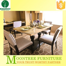 Moontree MDT-1113 cheap restaurant cream colored dining room table and chairs