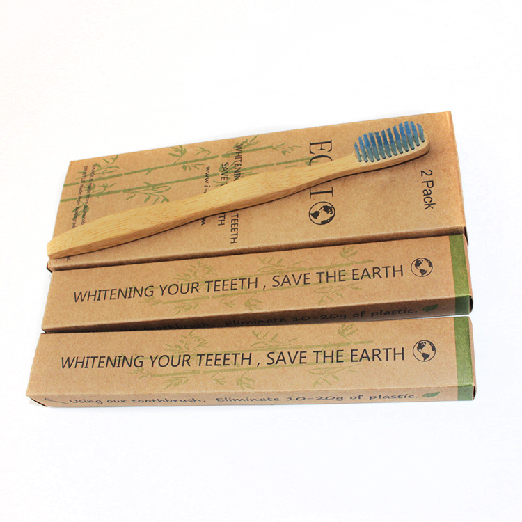 Natural Bamboo Toothbrush Pack Of 4 Adult Size <strong>Eco</strong> Friendly