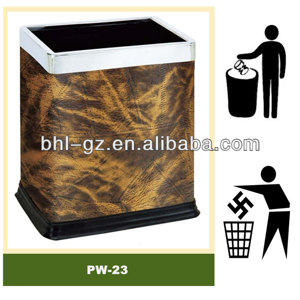 Unique hotel product guestroom rectangular waste bin