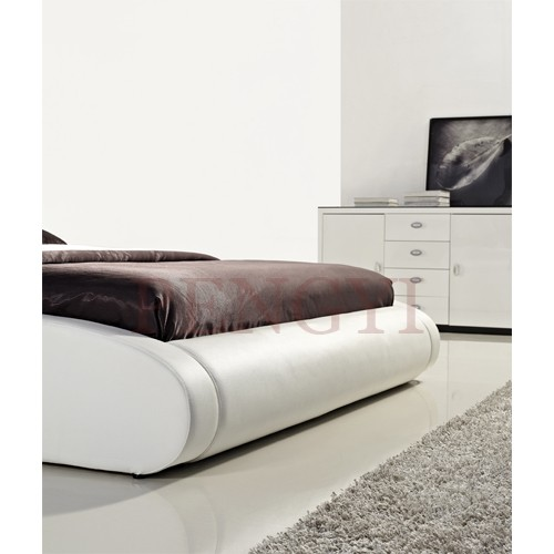 Unique design king size leather bed with led light PY-W006