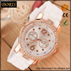 Doris Watch Model alloy diamond case good quality silicone band women ladies hours