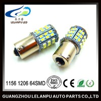 1156 BA15S Car LED S25 1206 64SMD Turning Light Led Corner Backup Lamps 12v Car Led Iinterior Light