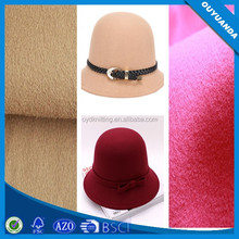 Best Polyester Fabric Wholesale Wool Spining Velvet For Making Hats