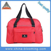 China Manufaurers Fashion Red Nylon Sport Travel Duffel Bag For Ladies