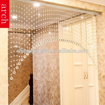 arch crystal curtain glass crystal curtain for home decoration