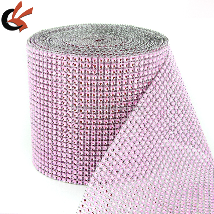 "4.75""<strong>x10</strong> Yards Silver DIAMOND MESH WRAP ROLL SPARKLE RHINESTONE Crystal Ribbon"